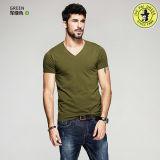 T-shirt 100% rond de chemise de circuit de collet de coton de modèle d'OEM de constructeur de T-shirts d'hommes