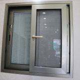 Beste China-Aluminiumschiebendes Fenster-Glasherstellung Guangzhou mit Vorhängen nach innen