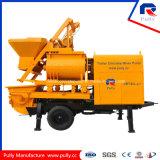 Capacité de distributeur de la fabrication 800L de poulie pour le village, route, pompe concrète de remorque de construction de tunnel de passerelle avec le mélangeur à vendre en Indonésie (JBT40-L)