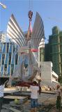 Grande piscine Sculpture en acier inoxydable