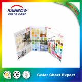 장식적인 아름다움 가득 차있는 인쇄 시스템 색깔 카탈로그