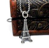 エッフェル塔のネックレスの吊り下げ式のチタニウムの鋼鉄方法宝石類