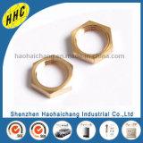 Noce rotonda d'ottone zigrinata di precisione di fabbricazione della Cina