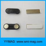 Nom de métal magnétique en néodyme insignes/Tag avec deux disque rond aimant NdFeB les pièces jointes