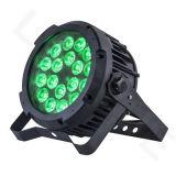 DMX 18X18W RGBWA fase UV planas de luz LED de exterior PAR