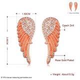 Boucles d'oreille de femmes de diamant de boucles d'oreille d'or de femmes de Zircon de forme de clavette