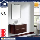 Unité de meuble de salle de bain en mélamine MDF avec armoire miroir