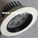 interpréteur de commandes interactif DEL Downlight de 7X1w White+Black