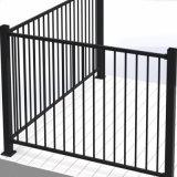 L'Amérique Hot Sale aluminium / revêtement en poudre en acier galvanisé barrière de sécurité de la piscine à dessus plat
