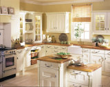 Küche-Möbel-weiße Luxuxart und festes Holz-Küche-Schränke