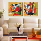 Деревянное печатание холстины стены искусствоа рамки для живущий украшения комнаты