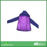 Куртка Softshell ткани полиэфира женщины пурпуровая тонкая задействуя