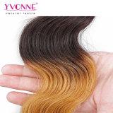 Cabelo peruano de Ombre do cabelo de Remy da onda do corpo
