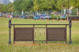 Balcón decorativo de acero galvanizado de alta calidad 1 que cerca con barandilla de la aleación de aluminio de Haohan