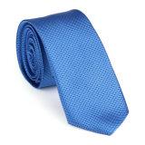 100 % soie polyester tissé Floral Dots cravate (NT-020)