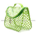 容易なクリーニング透過PVC構成袋は明確なフェルトの化粧品袋をくり抜く