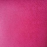 靴のための浮彫りにされたHamiのメロンの整形スエードのMicrofiber PUの革は袋に入れる(HS-M1703)