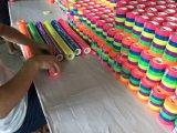 Bande colorée dans des 3 Rolls avec le sac clair
