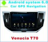 Navegação Android do carro do sistema 6.0 para Venucia T70 com jogador do carro