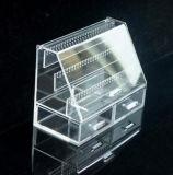 Cadre antipoussière d'étalage acrylique de boucle d'oreille
