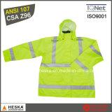 En20471를 가진 높은 시정 안전 착용 Mens 사려깊은 우천용 의류