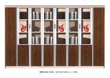 Het moderne Houten Kabinet van de Muur van het Bureau van het Huis met het Frame van het Metaal