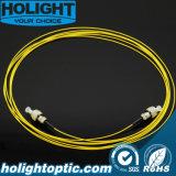 Cordon de connexion de fibre optique de mode unitaire de FC