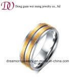 Anelli di oro dei monili dell'anello dell'acciaio inossidabile di modo per la fascia di cerimonia nuziale degli uomini