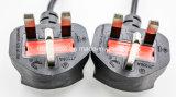 UK поставщик кабеля электропитания Splitter силы шнура выдвижения силы