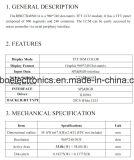 2.7 écran de TFT LCD de pouce 960*240, RVB 8bit, Ili8961, FPC 40pin