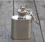 1oz de acero inoxidable mini botella de aceite de frasco de la cadera con el dedo