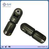 CCTVの販売のための回転カメラ60mの押し棒鍋の傾きの下水管の下水管の点検カメラ
