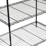"""4 층 검정에 있는 다기능 튼튼한 사무실 저장 금속 와이어 선반 선반설치 단위는, 14 """" X36 """" Xh54 """" 그것을 너자신 한다"""