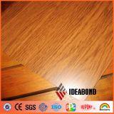 panneau composé en aluminium de construction de sembler du bois nano de bois de construction de 1220*2440*3mm
