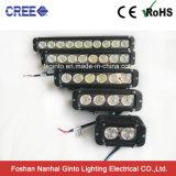 Barre tous terrains simple d'éclairage LED de la rangée 4X4 avec le support de base