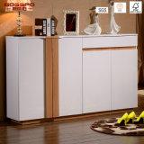 Cabinet de rangement en bois à la porte avant en bois moderne (GSP14-002)