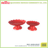 赤いカラーChinease様式のメラミンヘビの版