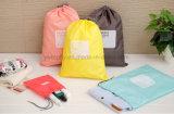 防水ドローストリングの袋の記憶袋旅行靴の洗濯の化粧品