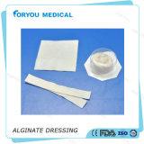 Alginato diabético de las úlceras del pie de Silvercel de la hoja curativa médica de la herida de Huizhou Foryou que viste el alginato con plata