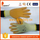 Ddsafety 2017 guantes cubiertos látex del trabajo de la naranja con Ce