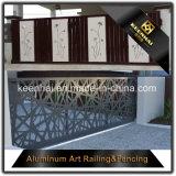 Frontière de sécurité en aluminium perforée de jardin coupée par laser de feuillard