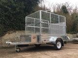 7X5 de Aanhangwagen van de Doos van Galvnised van de Plaat van de ruit met Helling