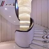 Luminária de pingente de cristal de luxo de tamanho grande branco com hotel