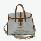 White Washed Kraft Paper Leisure Tote Bag Sac à main (16A082)