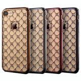 iPhone 7のための贅沢なめっきの端のダイヤモンドTPUの箱