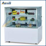 Cp600 새로운 디자인 6개의 유리제 문 케이크 전시 냉각기를 가진 강직한 스테인리스 기초