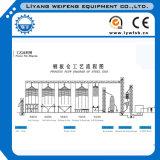 Silo de cimento usado para a linha de produção da placa de fibrocimento