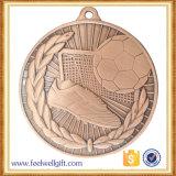 Medalha de bronze do futebol da classe elevada do projeto novo feito sob encomenda