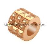 Charme de perles en acier ovales en forme de fer en forme de bracelet