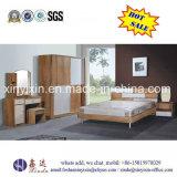 Preiswerte doppeltes Bett-hölzerne Wohnungs-Schlafzimmer-Möbel (SH-007#)